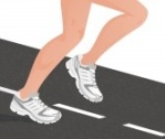 illustrated runner's legs and feet