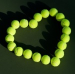 Tennis Balls in Heart Shape