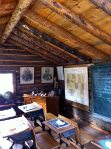 inside view of prairie schoolhouse at Ivinson Mansion, Laramie, WY