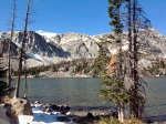 View of Mirror lake near Centennial, WY