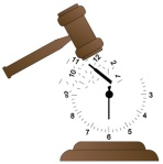 limonwhitaker.com's image of gavel smashing a clock