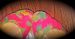 hot pink ballet flats with a tropical theme